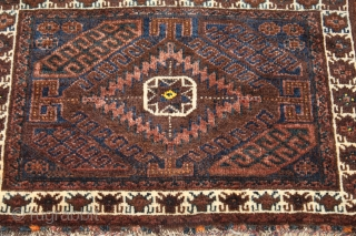 Baluch Bagface . Natural colors . 19th Century . Clean and Hand Washed .