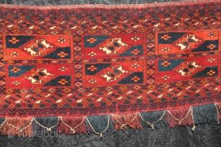 Turkmen Torba - yamut - Good Condition 19th Century Natural colors  Size:1.00cm x 0.38cm