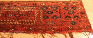 Turkmen Torba.Natural colors.19th Century.Good Condition.soft wool.finely woven. No repair.Clean and hand washed.size 1.70cm x 0.45cm