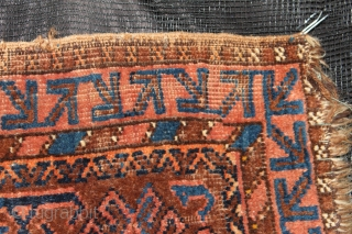 Baluch  Rug 19th Century  Natural colors Size 0.96cm x 0.58cm