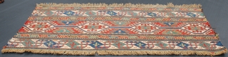 Antique Shahsevan sumak mafrash panel Very fine size 1.04cm x 0.42cm