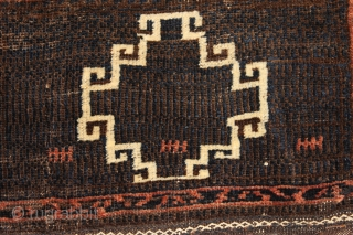 Baluch bagface  Natural colors circa 1900..    0.37cm x 0.50cm