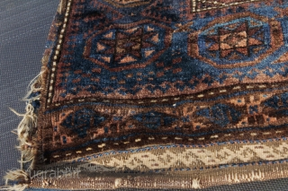 Antique baluch Bagface , natural color , finely woven , not washed yet ,original piece,  size 0.77cm x 0.65cm