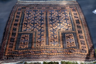 Baluch rug  natural dye . original piece . condition as you can see in the picture .size 1.20cm x 0.91cm