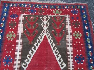 Konya Obruk Kilim, 3ft7ins by 5ft3ins