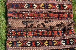 Antique Kyrgyz khorjin. 3 ft. 8 in. X 1 ft. 11-1/2 in. Circa 1900. All natural dyes. Complete and in excellent condition.
