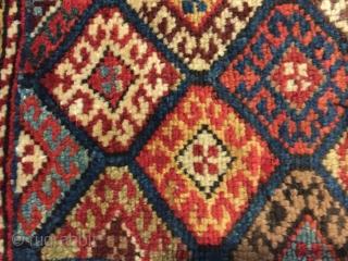 "Kurdish pile khorjin. NW Iran. 41""X19"".  Circa 1900. Wool. All natural dyes. Fine condition."