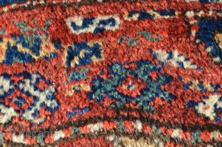 "Kordi pile rug. 9'5"" X 5'. Circa 1920. Full luxuriant pile. Natural colors. Original end and edge finishes. No problems."