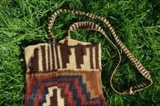 "Pouch, Sihuas Valley, Peru. 16-1/2"" X 7-1/2"". Camelid wool. 100 BC-400AD. Excellent condition. Rare collectors piece."
