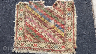 Mid.19th. cent. Shahsevan Khorjin fragment,Superb colours, 16X 14 inches  reasonably priced