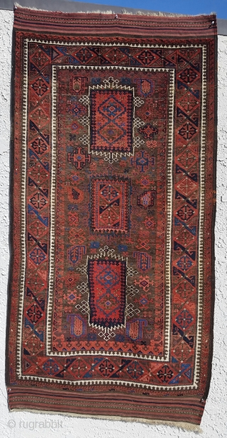 Antique Yaghoub Khani Baluch, with phenomenal wool,color and design. A great collectable rug.