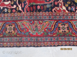 "Antique Garrus Bidjar carpet with arabesque design, circa 1870, wool foundation, measuring 7'-5"" x 13'-6"",a symphony of color and design, truly a Kurdish masterpiece."