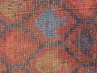 Rare and unusual Ersari rug, with great colors, in good condition.  This rug is partly comprised of white cotton - one of many unusual features of this piece.