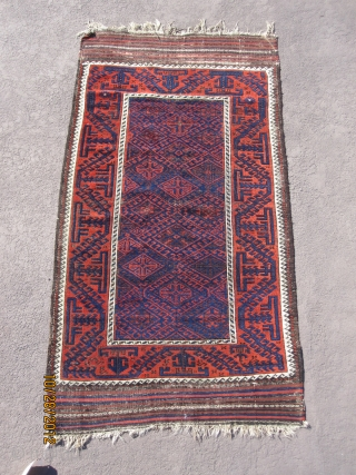 "Terrific Baluch rug, circa 1880, measuring 5'-9"" x 3'-2"", with great wool, in good condition."