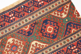 Mafrash Flatweave, Schahsavan-tribes, ca. 104 x 44 cm.   An antique and very fine and nice piece with perfect colours in very good condition!