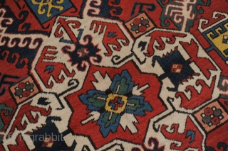 Kasim Ushak Kazak, wonderful antique carpet, approx. 251 x 134 cm