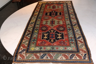 Kazak, antique, late 19th century, approx. 275 x 140.