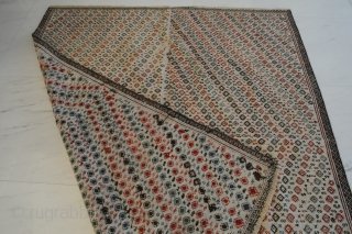 Exceptional Verneh flatweave, antique, ca. 160 x 140 cm