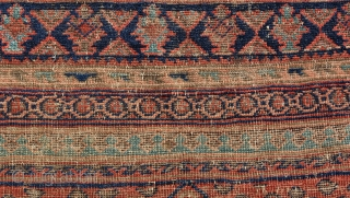 Old Baluche Pray Rug very nice colors but it is worn.