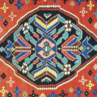 Antique kurdish klim with cotton warp in very nice condition