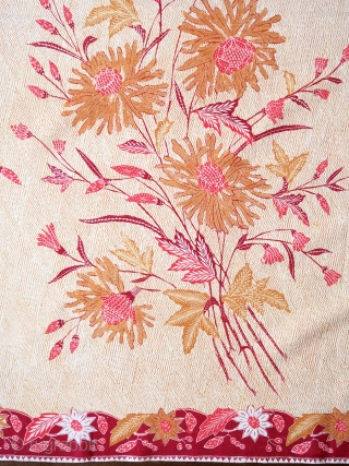 "Java | Hand-drawn batik ""morning / evening"" hipcloth (kain panjang pagi soré)