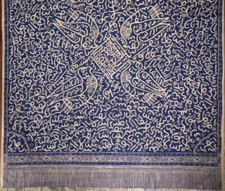 Sumatran Calligraphic Batik with Birds (Batik Tulisan Arab Burong)