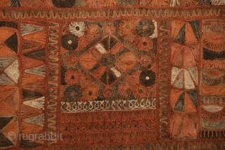 Marsh Arab/ Arab al- Ahwar/ Ma'dan kilim fragment from Southern Iraq. Measures 170x70cm.
