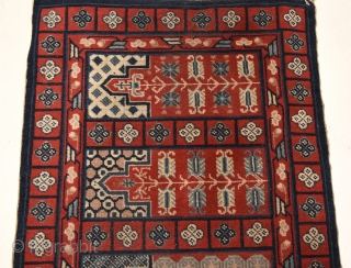 Khotan or Yarkand beaituful saph. 136cm x 70cm = around 53 x 27 inches
