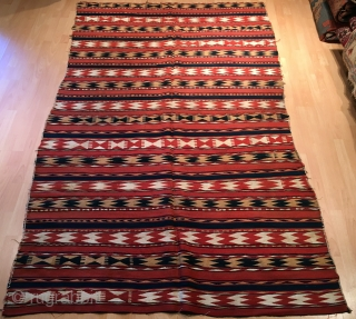 Antique Central Asian Uzbek Ghudgeri kilim 223 x 157 cm