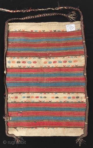 Anatolian 19th Century Bergama Kilim Chuwall (Sack) Size 94x67 cm