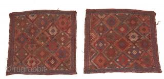 Caucasian Bag Faces Good Condition Size 54x55 cm 60x54 cm