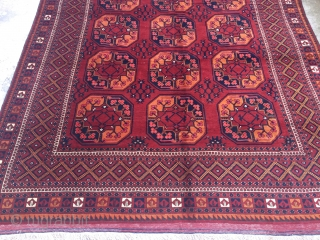Antique Turkmen Ersari Rug Good Colors And Condition Size 325x208 cm