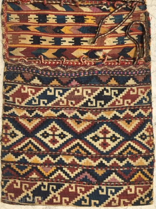 Antique Caucasian Zakatala Saddle Bag Size 133x57 cm