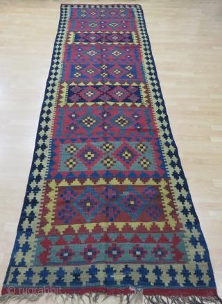 Persian Veramin Kilim Size 120x400 cm /4'1''x13'1''