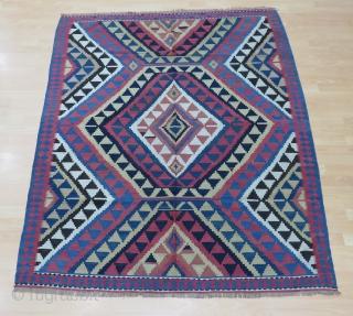 Caucasian Sahnazar Kilim Size 192x161 cm