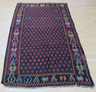 Caucasian Karabagh Kilim Size 141x219 cm /4'7''x7'2''