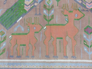 Caucasian Karabagh Kilim Good Condition Size 160x300 cm / 5'3''x9'9''