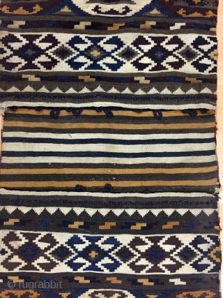 Antique Caucasian Zakatala Saddle Bag (Heybe) Size 59x136 cm / 1'9''x4'5''