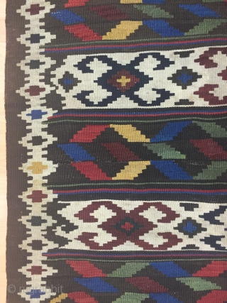 Caucasian Karabagh Kilim Size 145x168 cm / 4'8''x5'5''