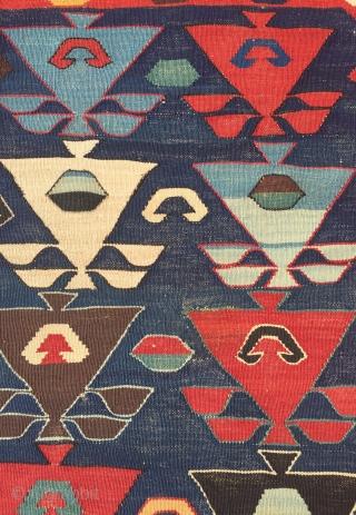 Caucasian Borchalo Wonderful Colors All Orginal Kilim Size 142x182 cm / 4'7''x6'0''