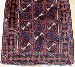 Antique Turkmen Ersari Rug Size 105x160 cm / 3'5''x5'3''