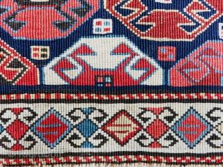 Shahsavan Side Panel Great Color Fine Weave Size 40x93 cm / 1'4''x3'1''