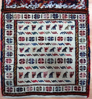 Jaff Khurdish Saddle Bag (Heybe) Size 81x95 cm / 2'7''x 3'2''