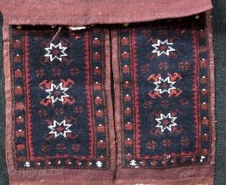 Anatolian Beautiful Condition Yağcıbedir Saddle Bag (Heybe) Size 43x123 cm / 1'5'' x 4'1''