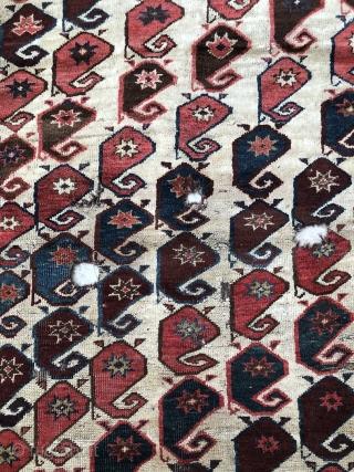 Antique Kyrgyz Botteh Rug Size 142x270 cm / 4'7'' x 8'9''