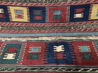 Antique Caucasian Bordjalou Kilim Size 173x256 cm / 5'7'' x 8'4''
