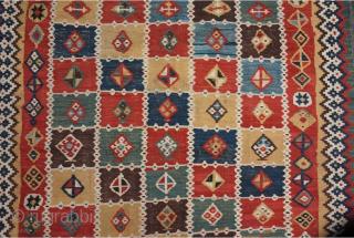 19th century Qashqai kilim 225 x 155 cm