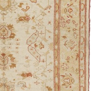 "Antique Turkish Oushak Rug Turkey ca. 1900 12'3"" x 8'3"" (374 x 252 cm) FJ Hakimian Reference #04072"