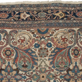 """Antique Persian Sultanabad Rug Persia ca.1890 11'9"""" x 8'10"""" (359 x 270 cm) FJ Hakimian Reference #06030"""