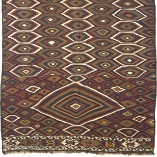 "Antique Persian Kilim Persia ca.1890 10'6"" x 5'10"" (320 x 178 cm) FJ Hakimian Reference #02269"